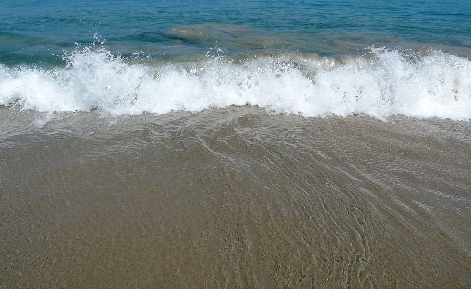 Ocean, Waves, Beach, Water, Flowing, Splash, Sea