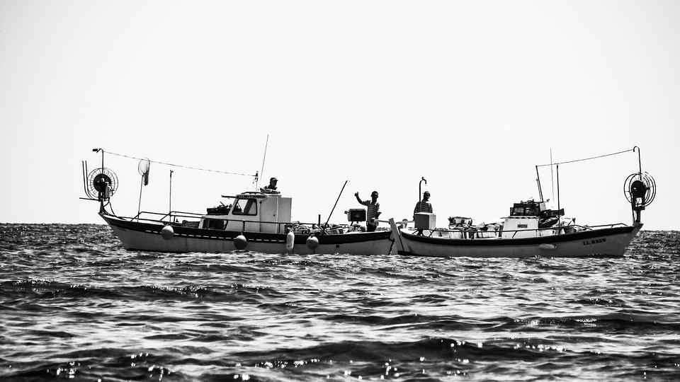 Colleagues, Waving, Gesture, Fishermen, Fishing Boat