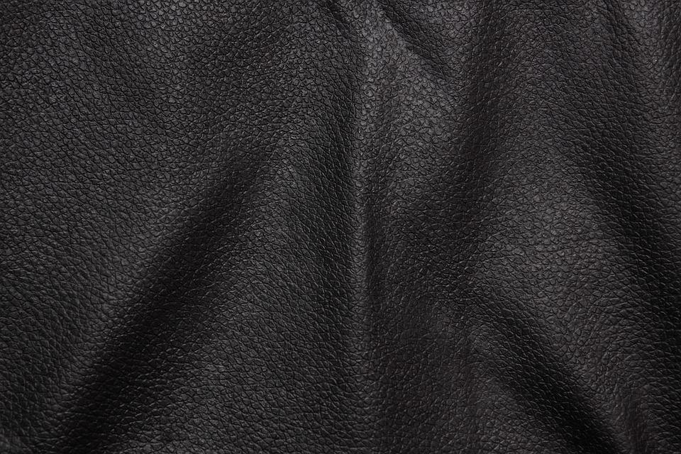 Leather, Black, Background, Texture, Wavy, Detail