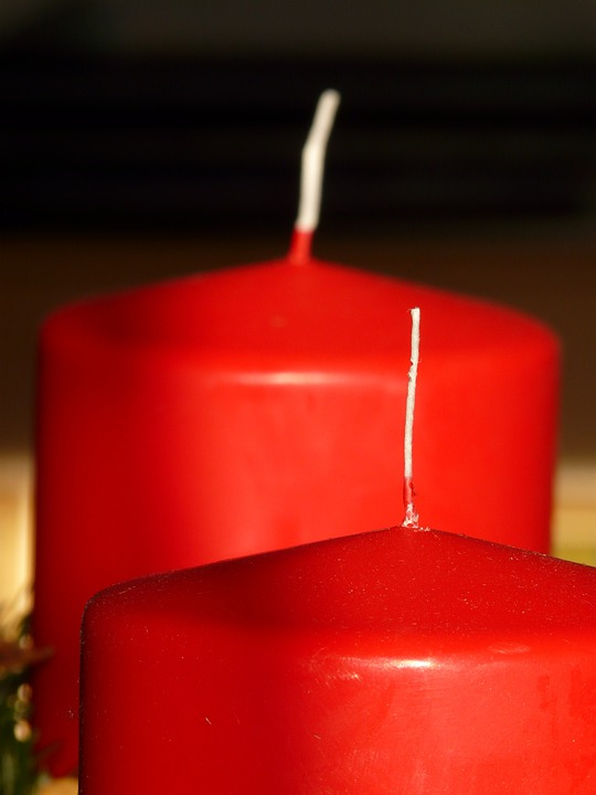 Candle, Wax, Wax Candle, Red, Wick