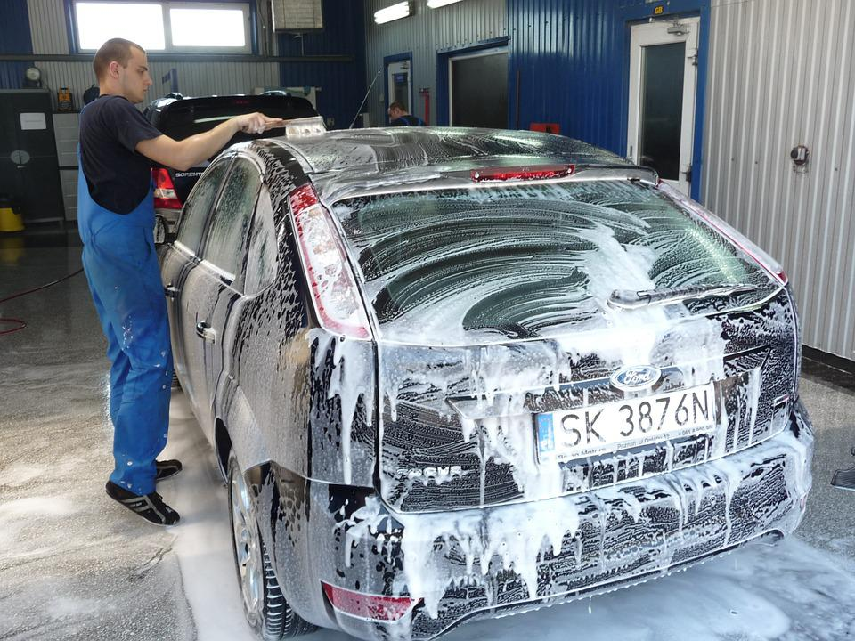 Auto, Washing, Car, Wax, Piana, Car Wash