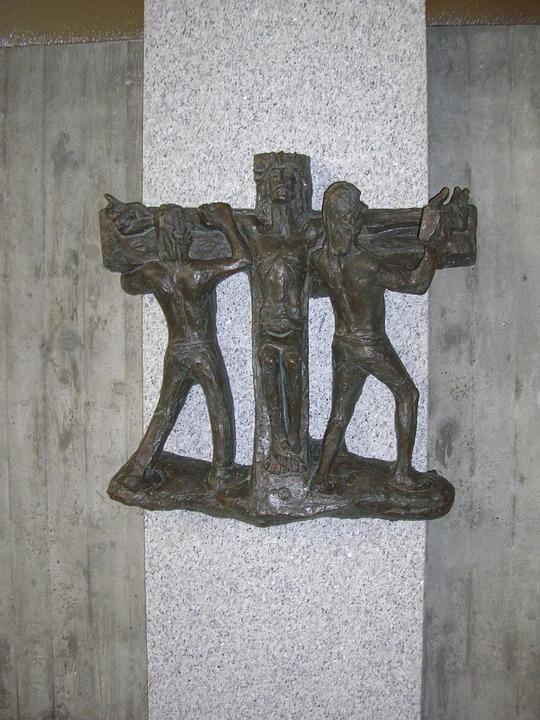 Way Of The Cross In Bronze, Artist Hans Colonel Of All