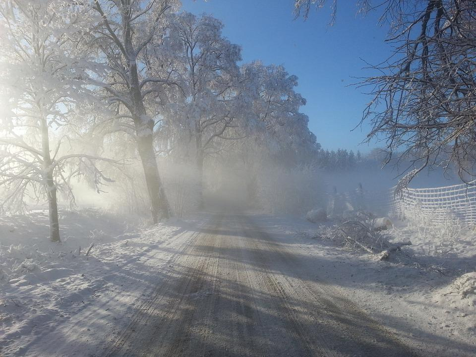 Winter, Way, Spring, Village