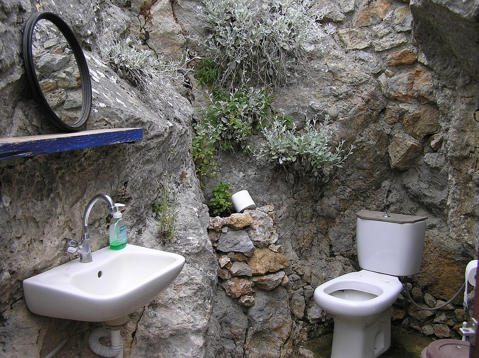 Greek Island, Kos, Wc, Toilet, Rustic, Simply