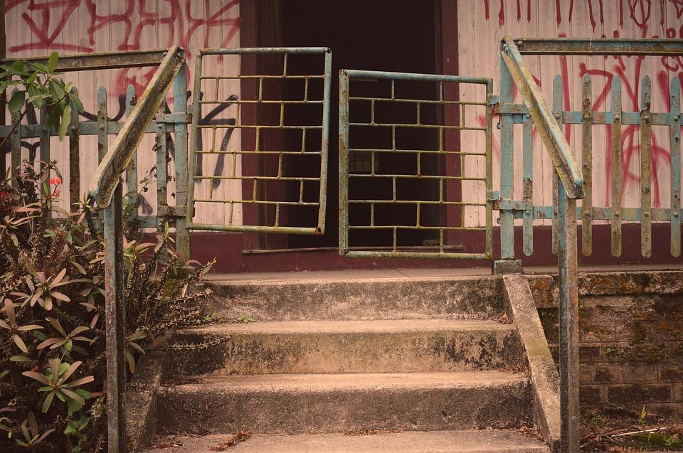 Home, Entry, Door, We Went, Ladder, Residence