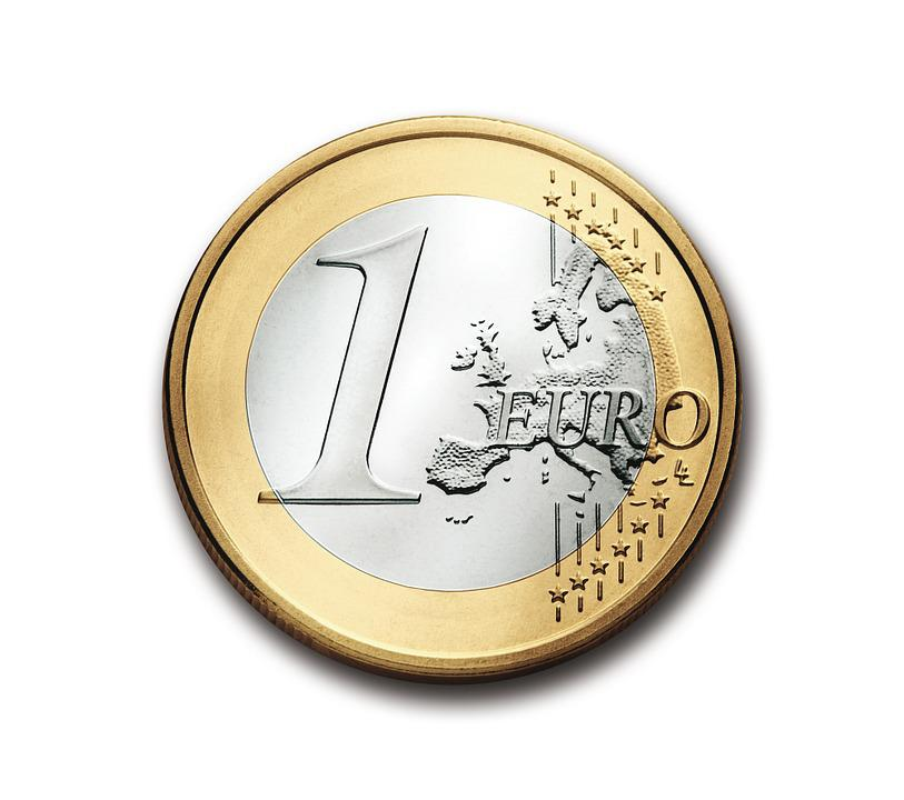 Euro, 1, Coin, Currency, Europe, Money, Wealth