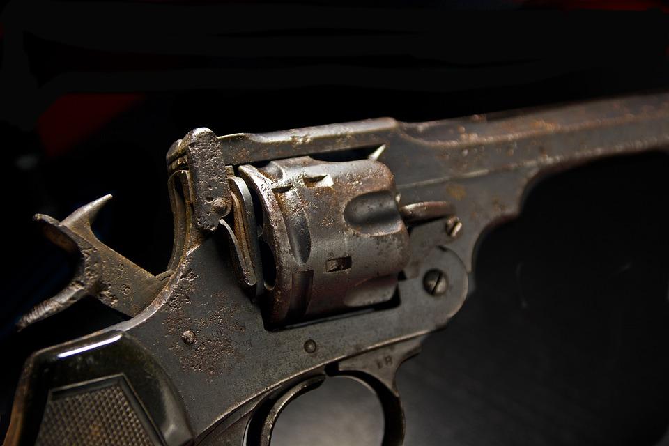 Weapon, Hand Gun, Handgun, 45, Black Powder, War, Fight