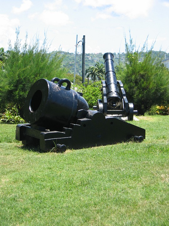 Cannon, Old, Weapons, Caribbean, Fort