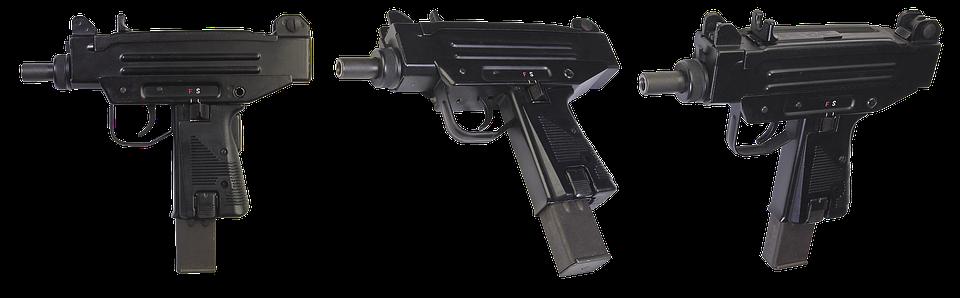 The Gun, Uzi-pistol, Israeli Machine, Weapons, Army
