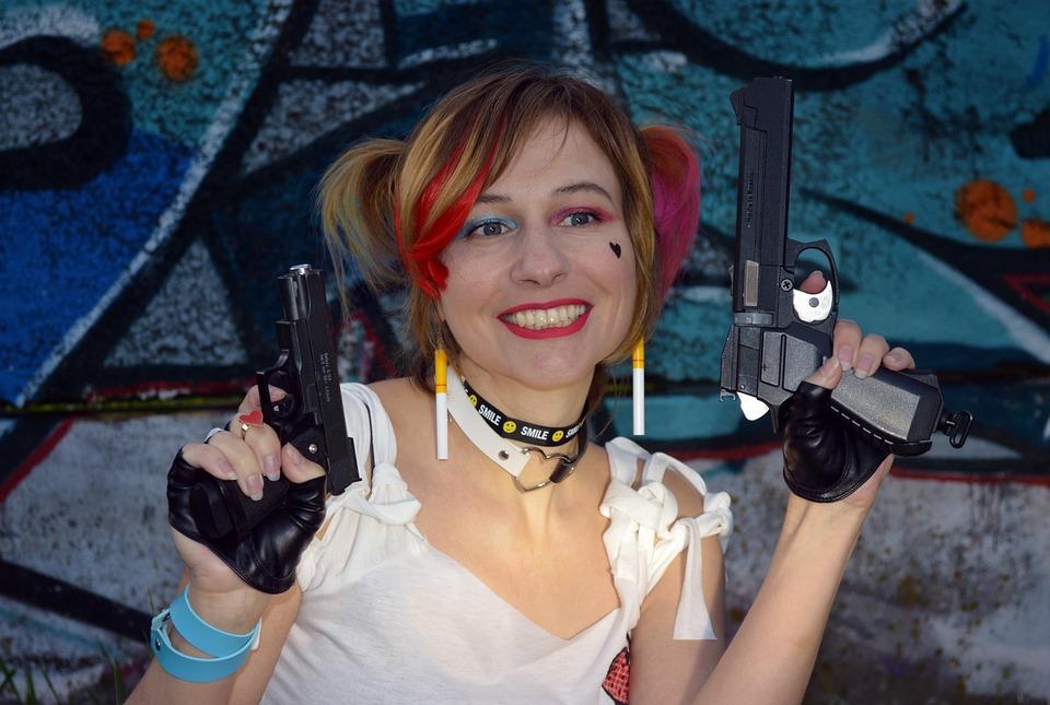 Harley Quinn, Cosplay, Comics, Marvel, Weapons, Gotham
