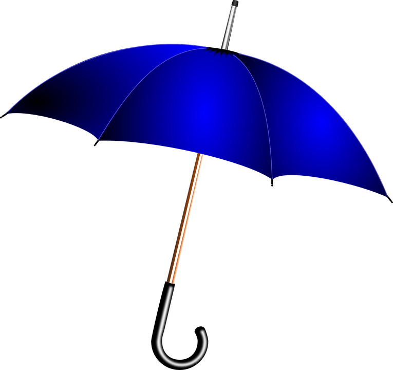Umbrella, Blue, Rain, Weather