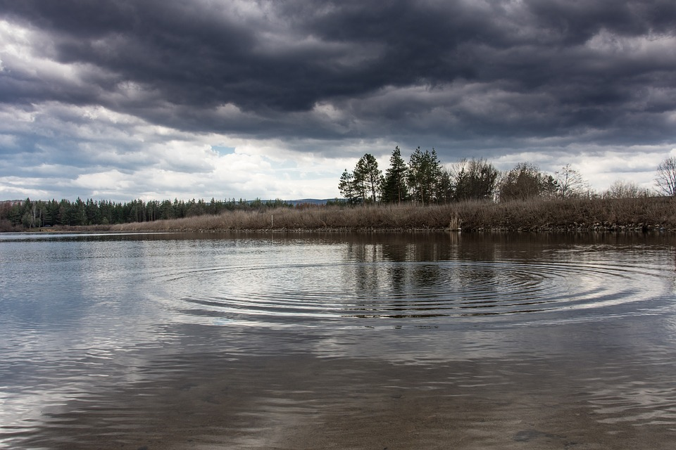Lake, Storm, Nature, Landscape, Water, Weather, Season