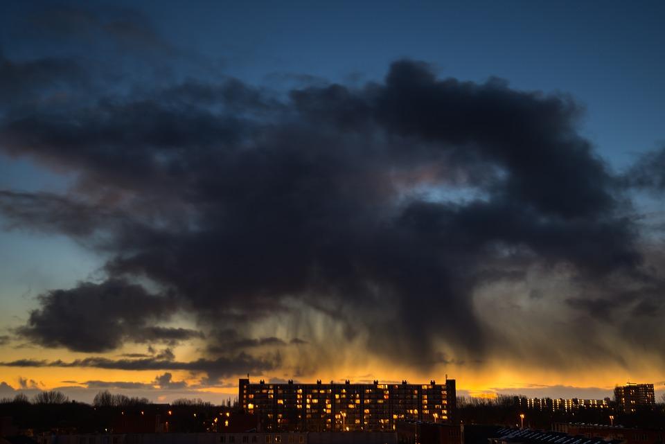 Rain Cloud, Sunset, Dark, Landscape, Weather, Rain