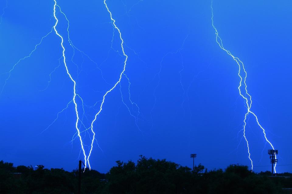 Lightning Storm, Shock, Weather, Thunder, Sky