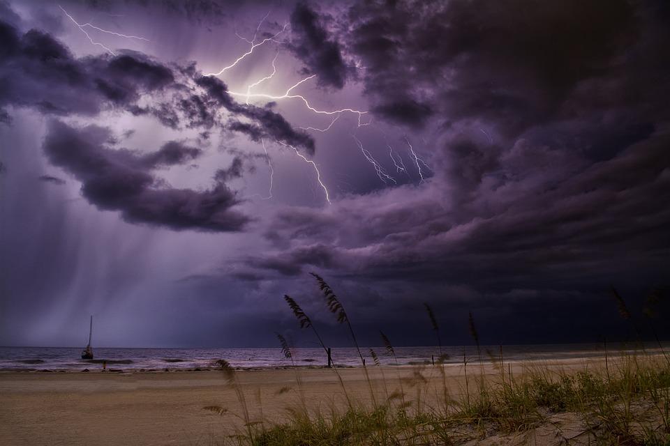 Lightning, Storm, Weather, Thunderstorm, Thunder