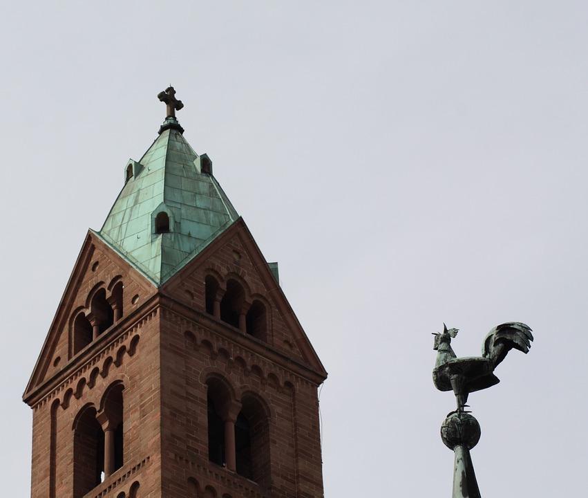Dom, Speyer, Kaiser Dom, Hahn, Weather Vane