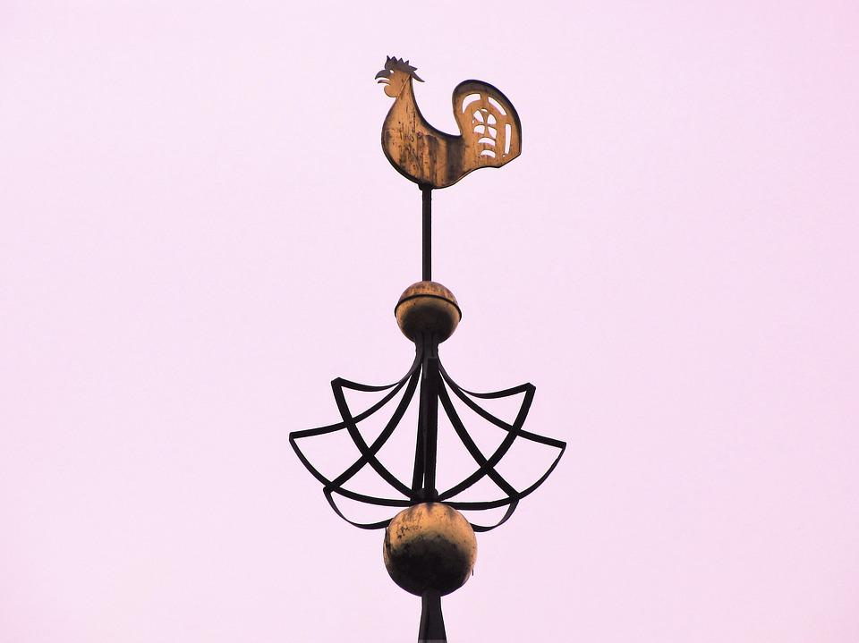 Haan, Weathercock, Wind Cock, Weather Vane, Spire