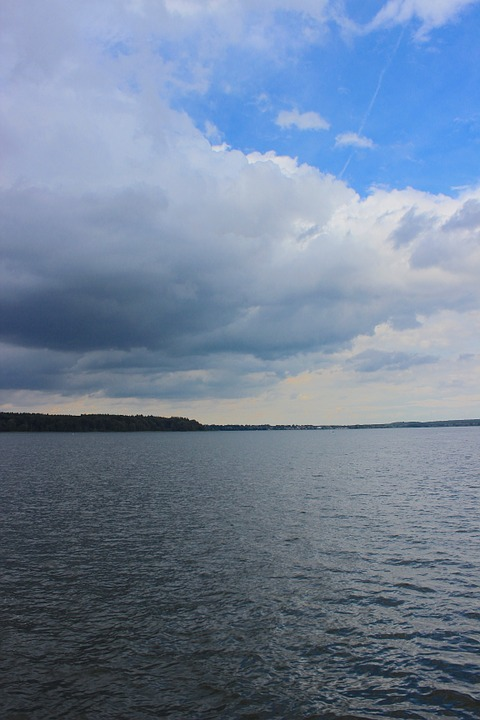 Storm, Lake, Clouds, Rain, Sky, Water, Weather