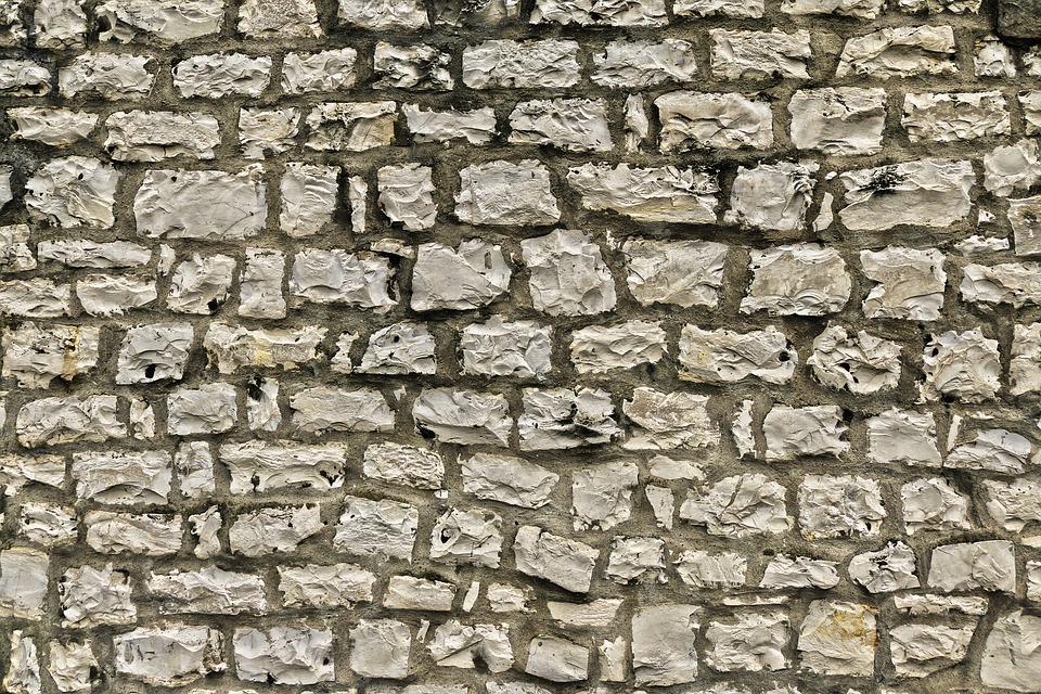 Stone Wall, Limestone, Quarry Stone, Weathered