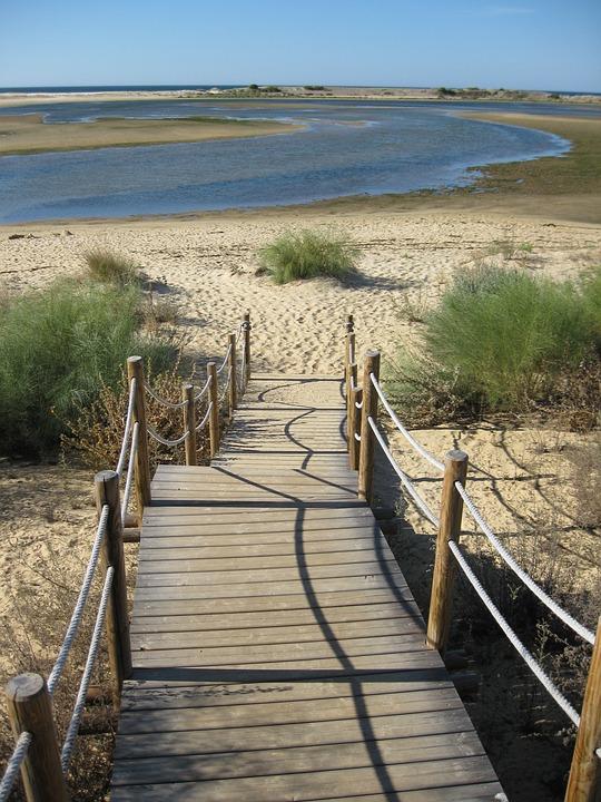 Away, Web, Landscape, Algarve, Boardwalk, Sunny, Mood