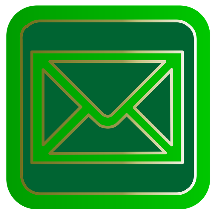 Mail, Email, Internet, Button, Symbol, Green, Web, Sign