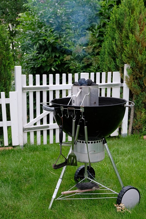 Grill, Barbecue, Ball Grill, Weber, Fire, Charcoal