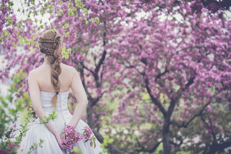 Bloom, Bride, Wedding, Woman, Outdoors, Girl
