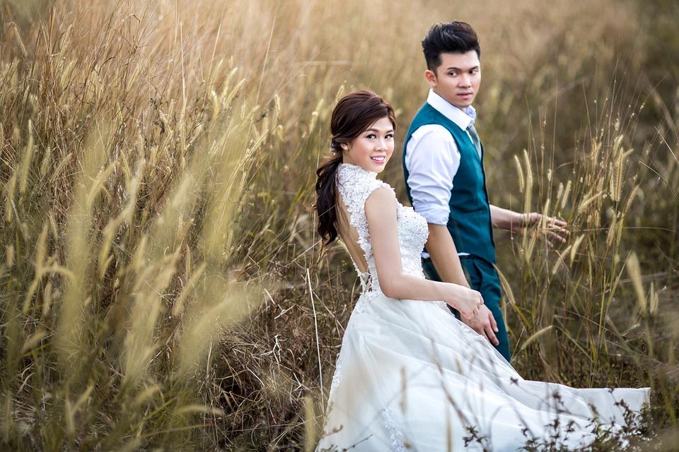 Wedding, Couple, Marriage, Groom, Bride, Romantic