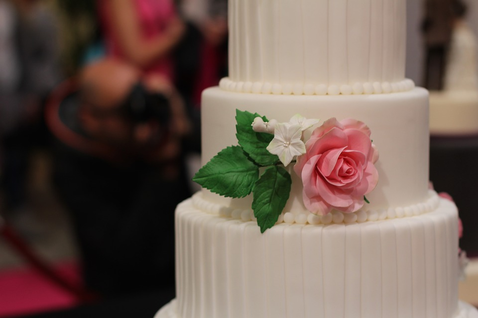 Wedding Cake, Decorated, Rose, Marry, Eat, Ornament