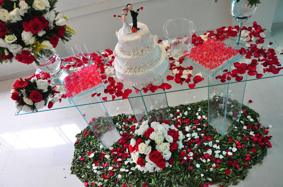 Decorated Table, Wedding Cake, Wedding Decoration