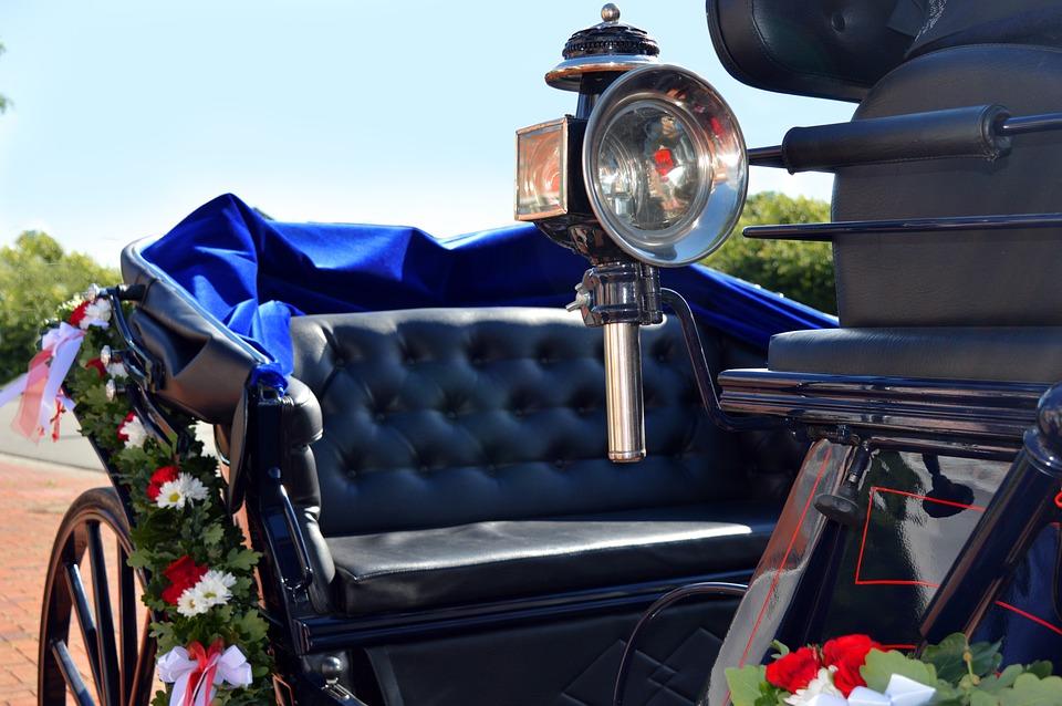 Wedding Carriage, Coach, Wedding, Floral Decorations