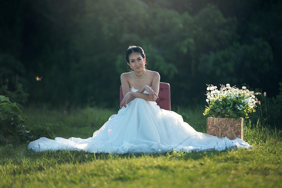 Bride, Fashion, Wedding, Adult, Asia, Wedding Dress