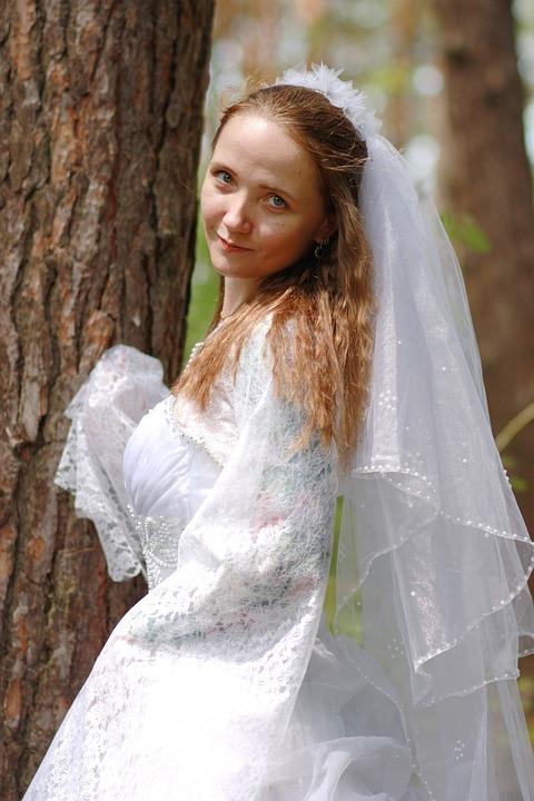 Bride, Wedding, Portrait, Veil, Wedding Dress, Marriage