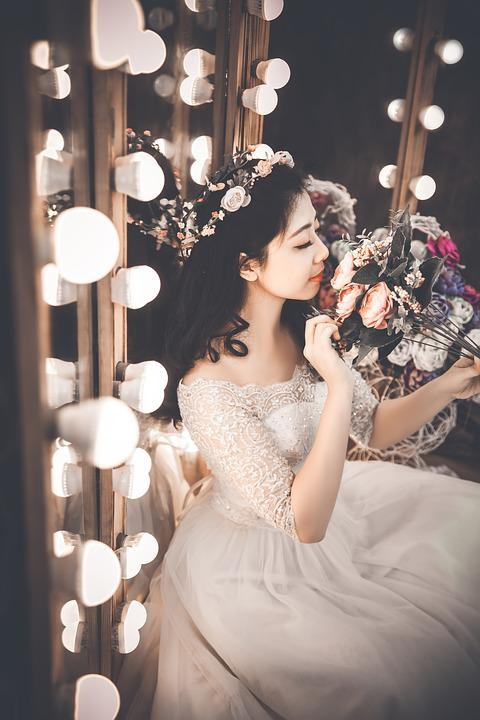 Bride, Wedding, Beautiful, Dress, Woman, Young, Fashion