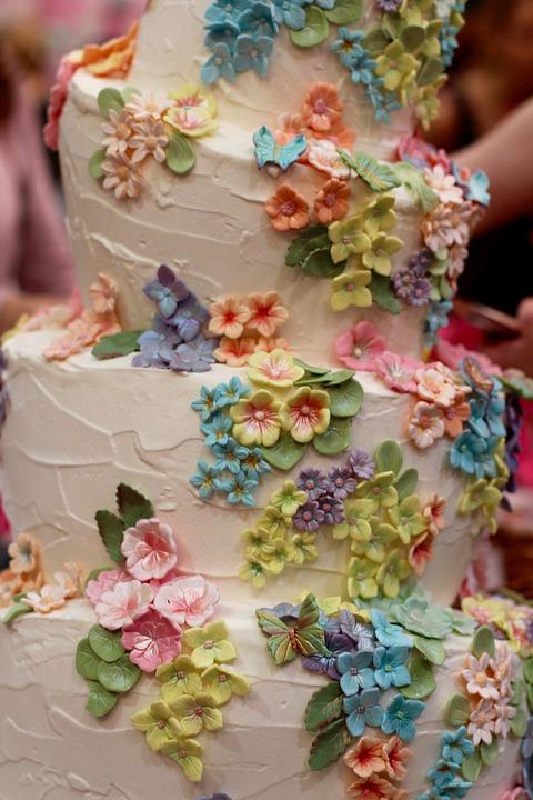Wedding Cake, Flowers, Decoration, Marry, Wedding, Love
