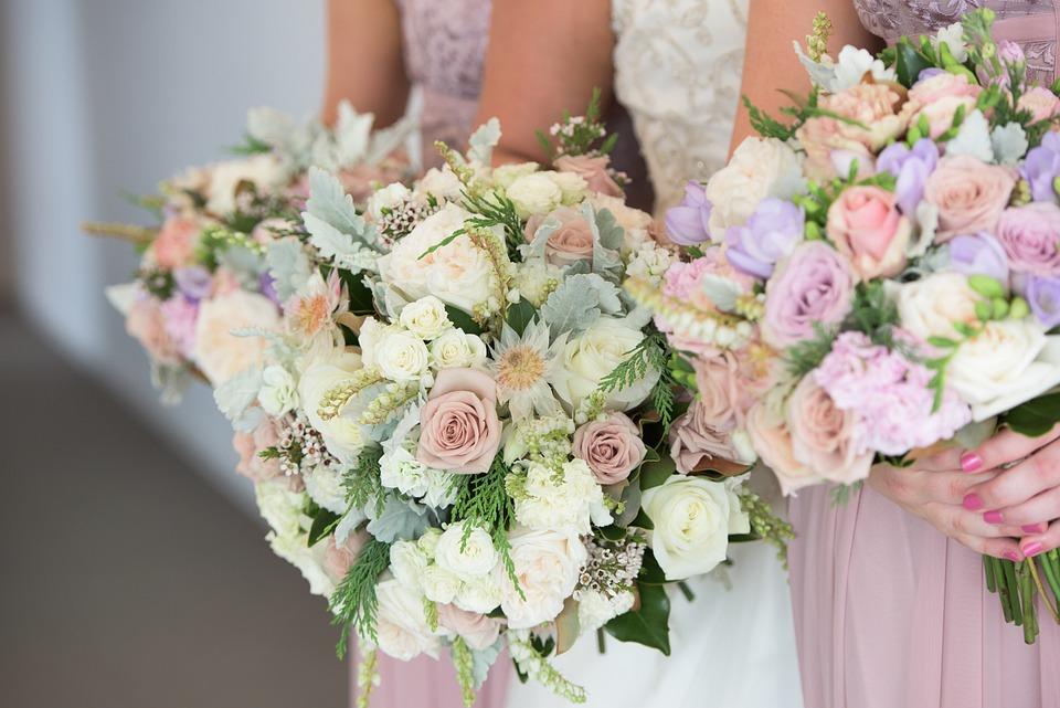 Wedding Flowers, Bouquet, Roses, Wedding, Romantic