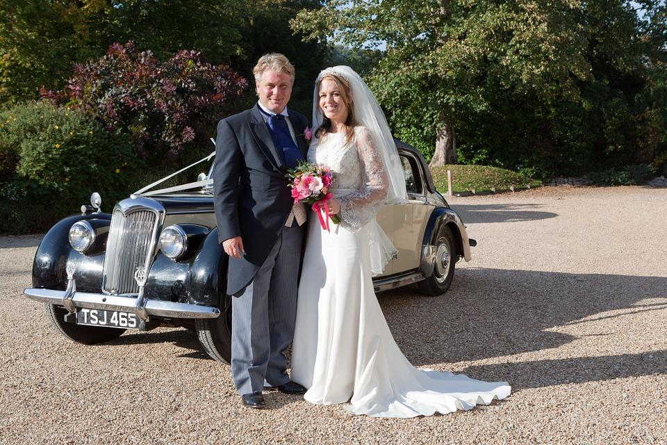 Wedding, Wedding Car, Bride, Groom, Couple