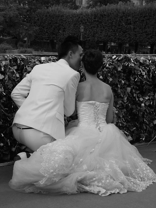 Love, Happiness, Wedding, Pont Des Arts