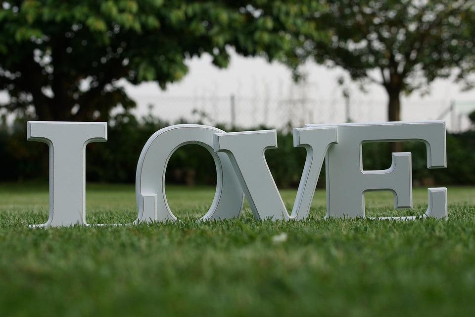 love letters grass text love you wedding