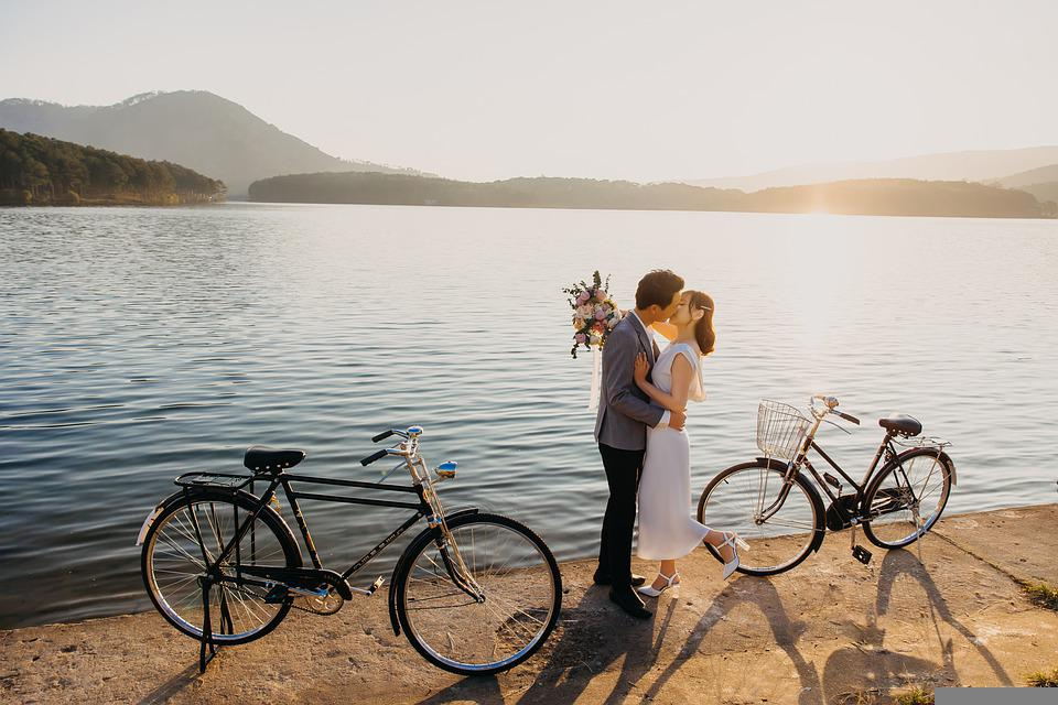 Couple, Lovers, Kiss, Wedding, Love, Romantic, Happy