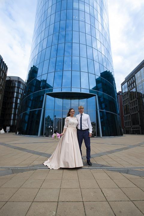Bride, The Groom, Couple, Wedding, Love, Marriage, Wife