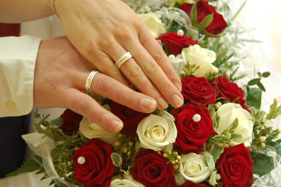 Wedding Marriage Ring Roses