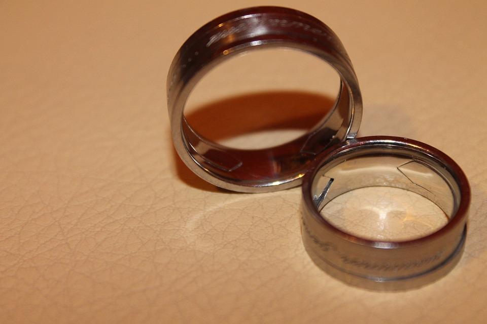 Rings, Wedding Rings, Wedding Ring, Ring, Two, Together