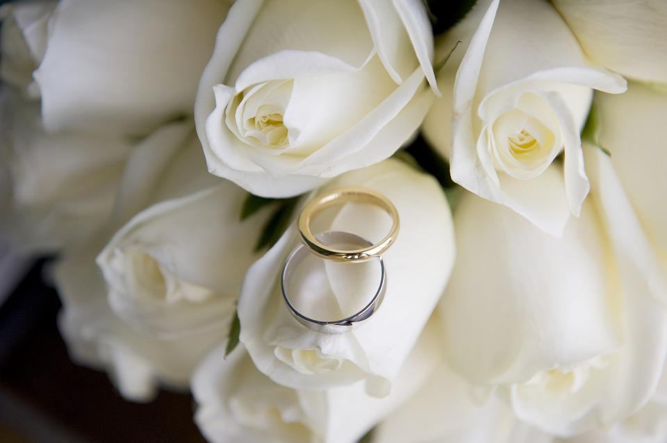 Wedding, Wedding Rings, Marriage, Love, Wedding Flowers