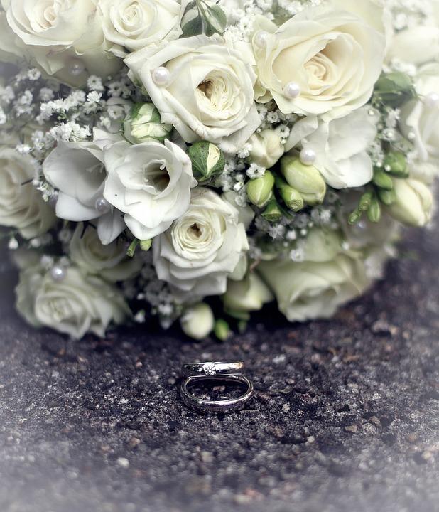 Bridal Bouquet, Wedding Rings, Wedding, Marriage