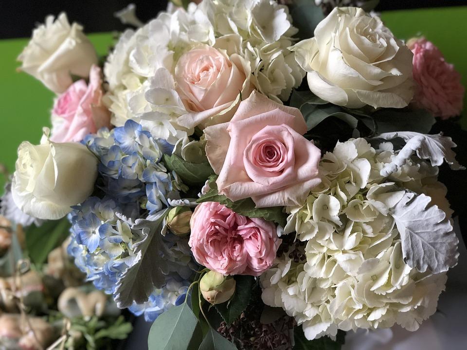 Rose, Flower, Bouquet, Wedding, Floral, Bride, Love