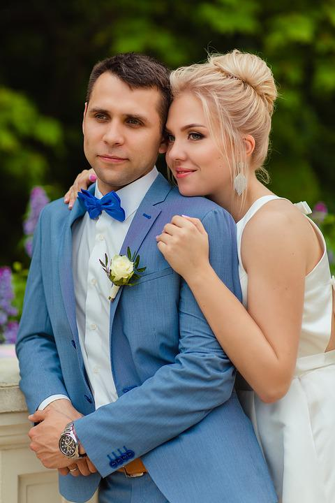 Wedding, Smile The Newlyweds, Love, Happiness