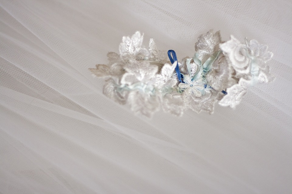 Garter, White, Wedding