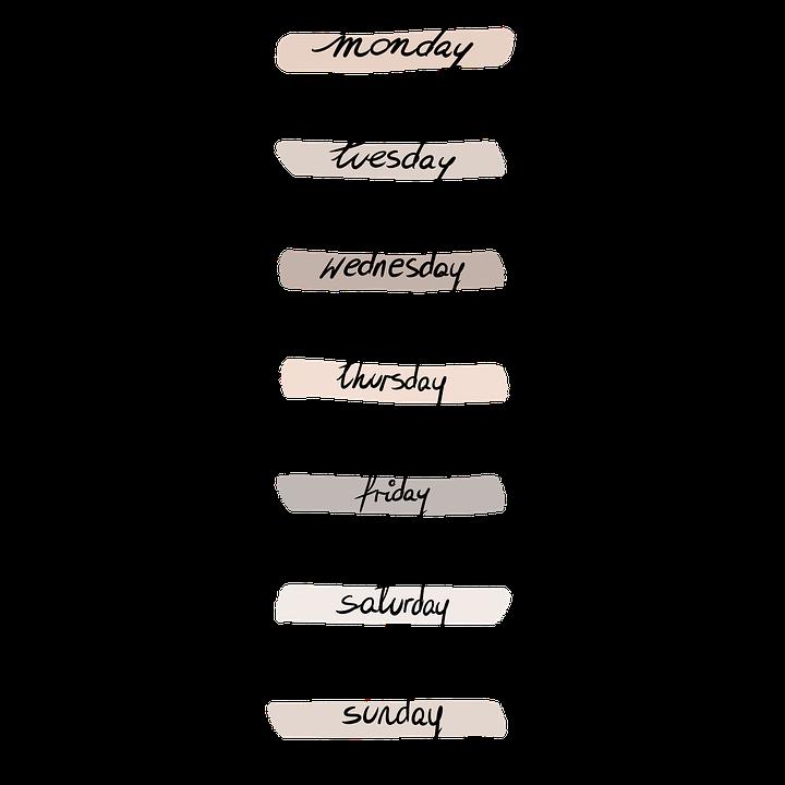 Bullet Journal, Week, Days, Aesthetic, Calendar