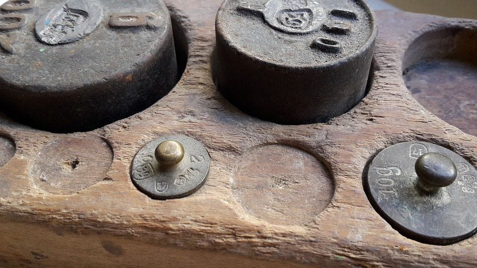 Weights, Horizontal, Weigh, Vintage, Antique, Old Scale